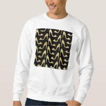 girly,trendy,gold,black,high heels,pattern,hipster sweatshirt