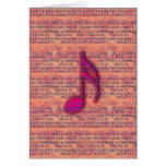 Girly Trendy Musical Note on Sheet Music