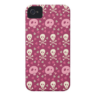 Girly Trendy Skull Pattern iPhone 4 Case-Mate Cases