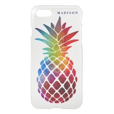 Beach Themed Girly Trendy Space Pineapple Uncommon iPhone 8/7 Case