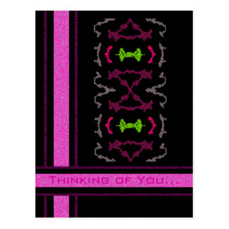 Girly Tribal Tattoos 1 Thinking of You Postcard