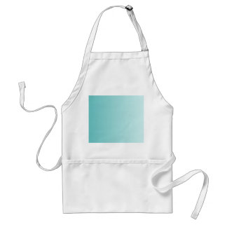 Girly Turquoise Gradient Adult Apron