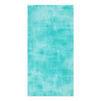 Girly Turquoise Watercolor Abstract Pattern Picture Card