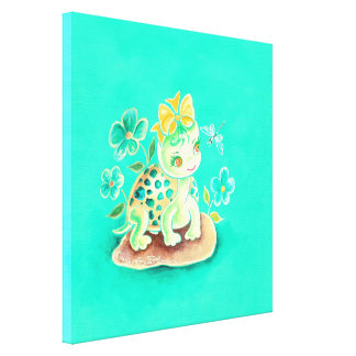 Girly Turtle Canvas Print