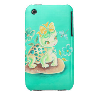Girly Turtle iPhone 3 Case-Mate Cases