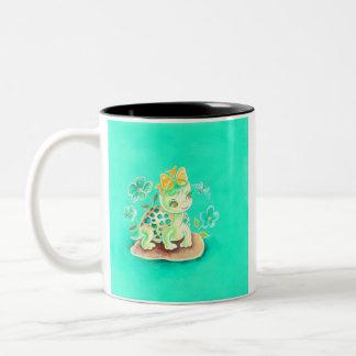 Girly Turtle Two-Tone Coffee Mug