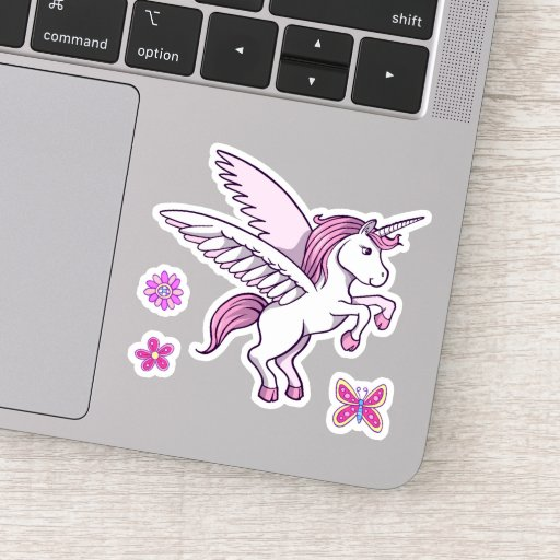 Girly Unicorn Pink Sticker