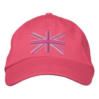 Girly Union Jack Flag England Swag Embroidery Cap