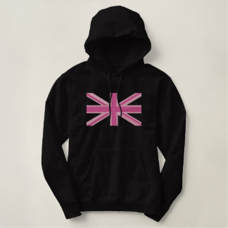 Girly Union Jack Flag England Swag Embroidery Embroidered Hoodie