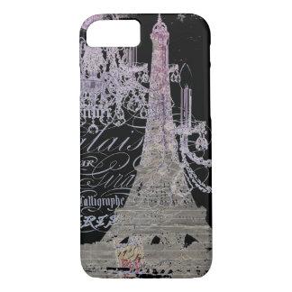 girly vintage chandelier paris eiffel tower iPhone 7 case