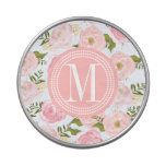 Girly Vintage Floral Pink Roses Peony Personalized Jelly Belly Tin
