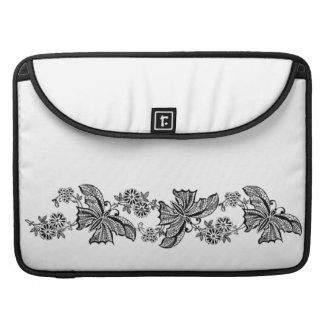 Girly Vintage Lace Butterflies Butterfly Floral Sleeve For MacBook Pro