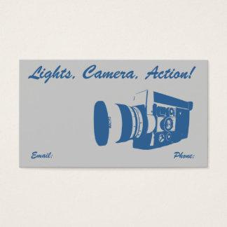 Girly Vintage Movie Camera Business Card