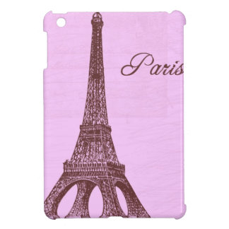 Girly Vintage Pink Paris iPad Mini Cover