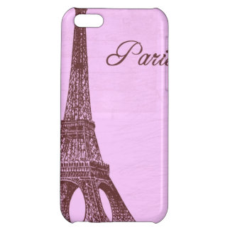 Girly Vintage Pink Paris Case For iPhone 5C