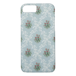 Girly Vintage Pink Rosebuds and Baby's Breath iPhone 8/7 Case