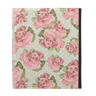 Girly Vintage Roses iPad Folio Cover
