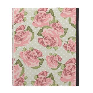 Girly Vintage Roses iPad Folio Cover