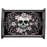 Girly Vintage Skull Serving Tray