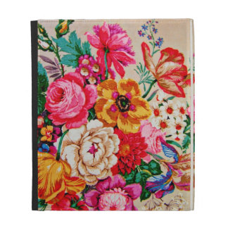 Girly Vintage Spring Flowers iPad Cases