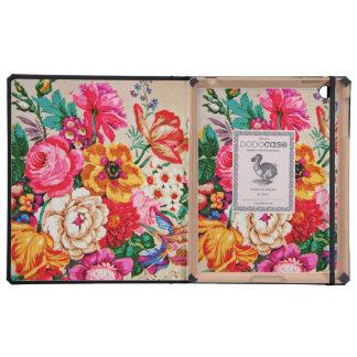 Girly Vintage Spring Flowers iPad Cover