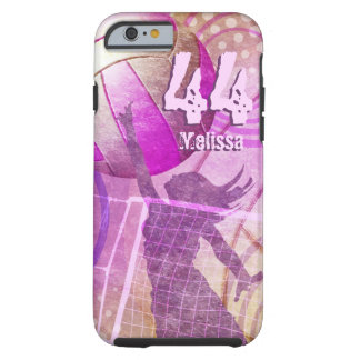 Girly Volleyball Tough iPhone 6 Case