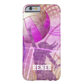 Girly Volleyball Barely There iPhone 6 Case