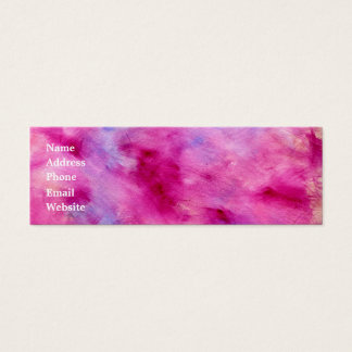 Girly Watercolor Business Card