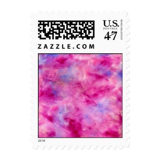 Girly Watercolor Postage Stamp