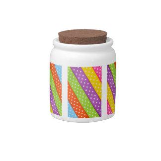 Girly Wedding Cute Rainbow Polka Dots Stripes Candy Dishes