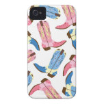 Girly Western Cowboy Boots Case-Mate iPhone 4 Case