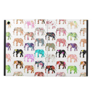 Girly Whimsical Retro Floral Elephants Pattern iPad Air Case