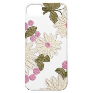 Girly White and Pink Daisies iPhone 5 Case