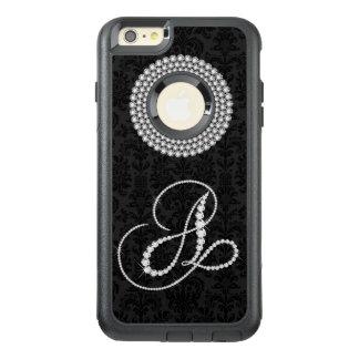 Girly White Diamonds Print Monogram Letter A OtterBox iPhone 6/6s Plus Case