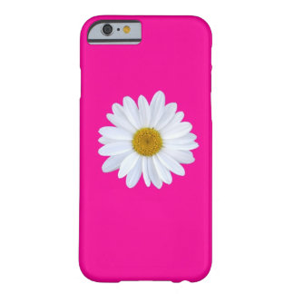 Girly White Gerber Daisy on Hot Pink iPhone 6 case
