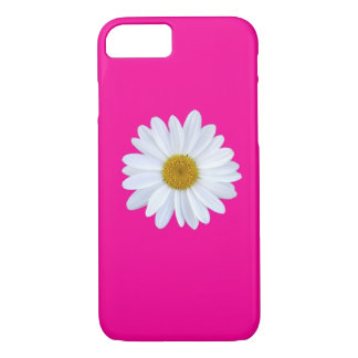 Girly White Gerber Daisy on Hot Pink iPhone 7 case