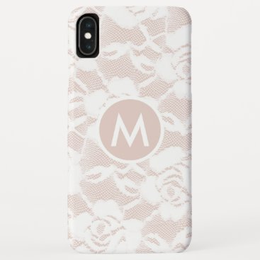 Girly  White  Lace over Blush  iPhone Case