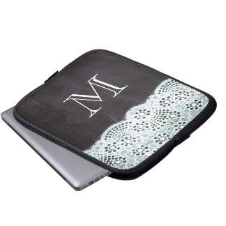 girly white lace paris vintage chalkboard laptop sleeve