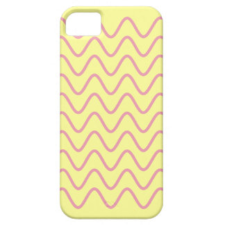 Girly Yellow Background Pink Squiggles iPhone 5 iPhone SE/5/5s Case