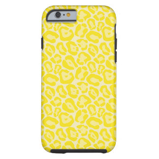Girly Yellow Leopard Pattern iPhone 6 case
