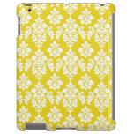 Girly Yellow White Vintage Damask Pattern