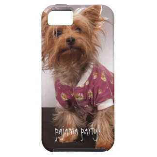 Girly Yorkie in Pajamas iphone 5 case