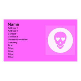 girlyheartskull business card