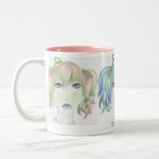 GirlZ Mug.. Two-Tone Coffee Mug