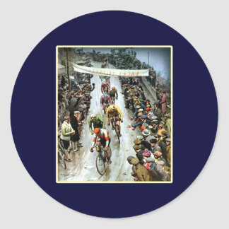 Giro 1912 Italy gifts for cyclists Classic Round Sticker