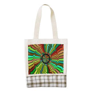 Giro alrededor de diseño abstracto bolsa tote zazzle HEART
