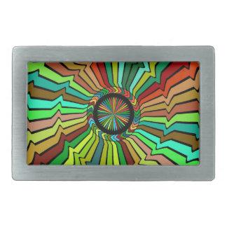 Giro alrededor de diseño abstracto hebilla cinturón rectangular