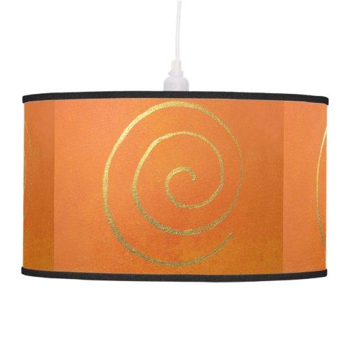 Giro anaranjado del remolino del oro de los colore