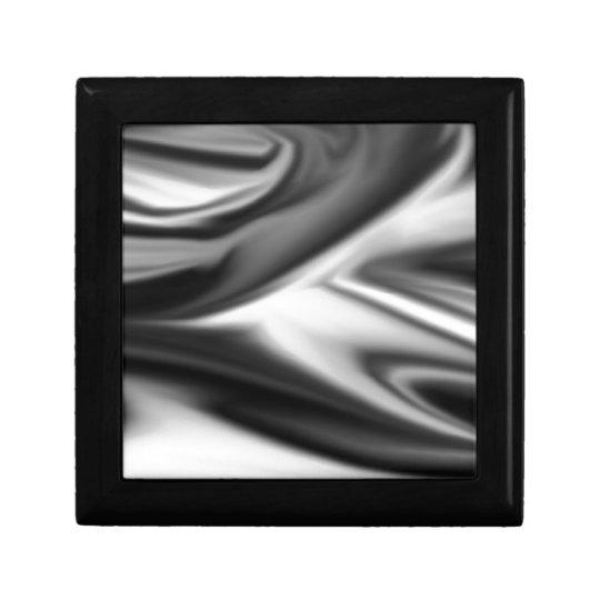 Giro blanco y negro joyero cuadrado pequeño