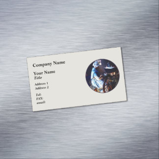 Giro colonial de la mujer tarjetas de visita magnéticas (paquete de 25)